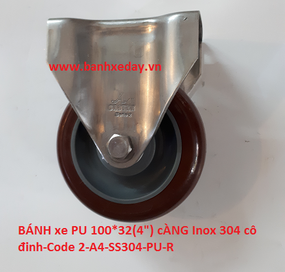 banh-xe-day-cong-nghiep-pu-100x32-cang-inox-304-co-dinh