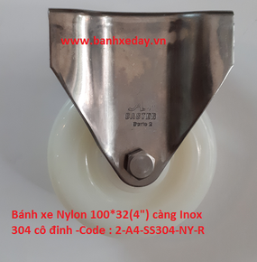 banh-xe-nylon-100x32-cang-inox-304-co-dinh-caster
